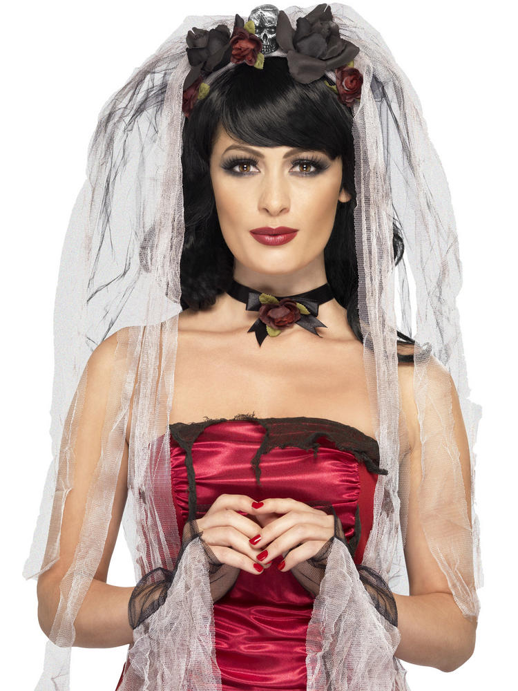 Gothic Bride Veil with Gloves