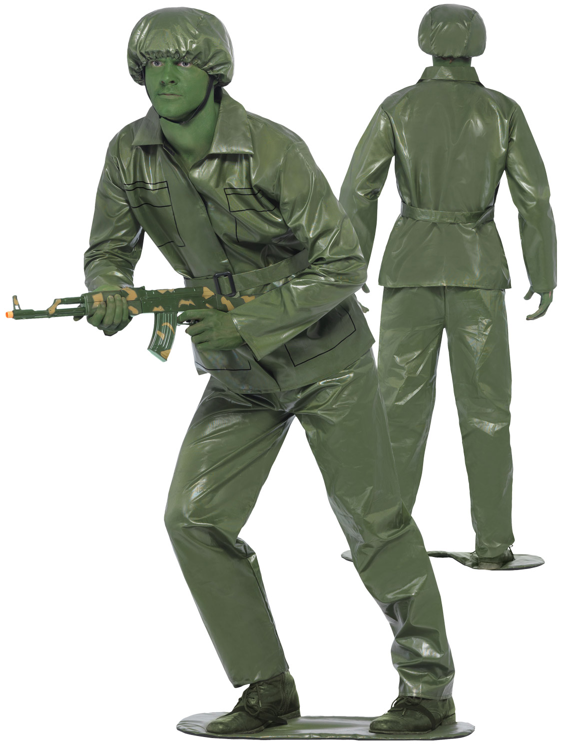 Mens Toy Soldier Army Man Toy Story Film Fancy Dress Costume