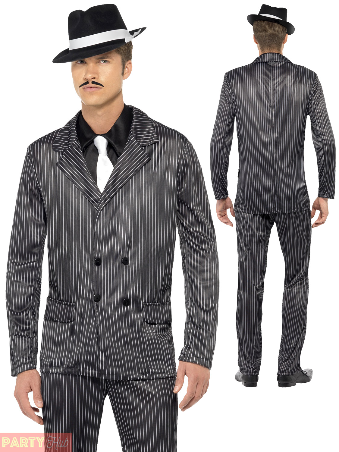 4eef7bbb067 Mens Gangster Costume Adults 1920s Pimp Daddy Fancy Dress 20s ...