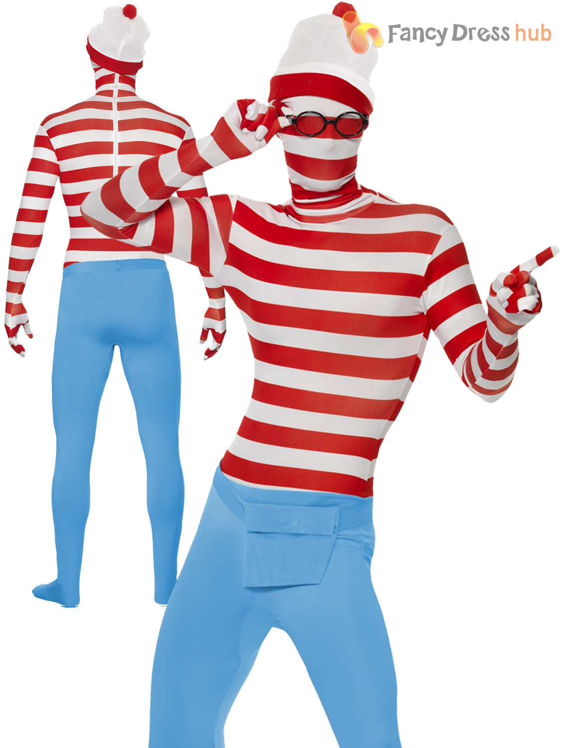 Mens wheres wally second skin costume adults tv fancy dress stag mens where 039 s wally second skin costume altavistaventures Choice Image