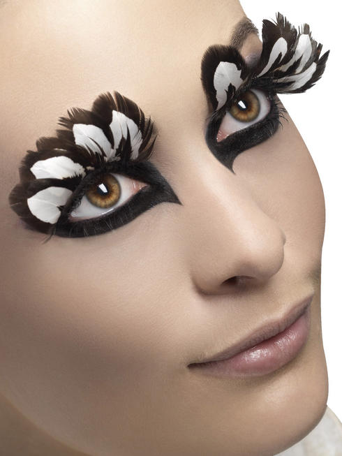 Ladies Brown Feather Eyelashes