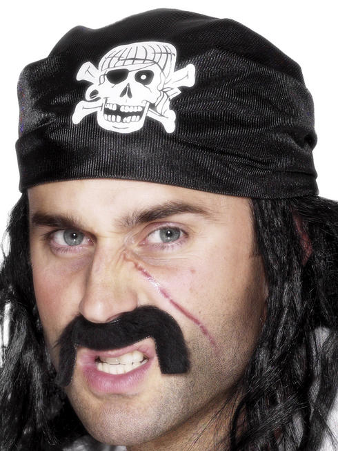 Black Pirate Bandanna
