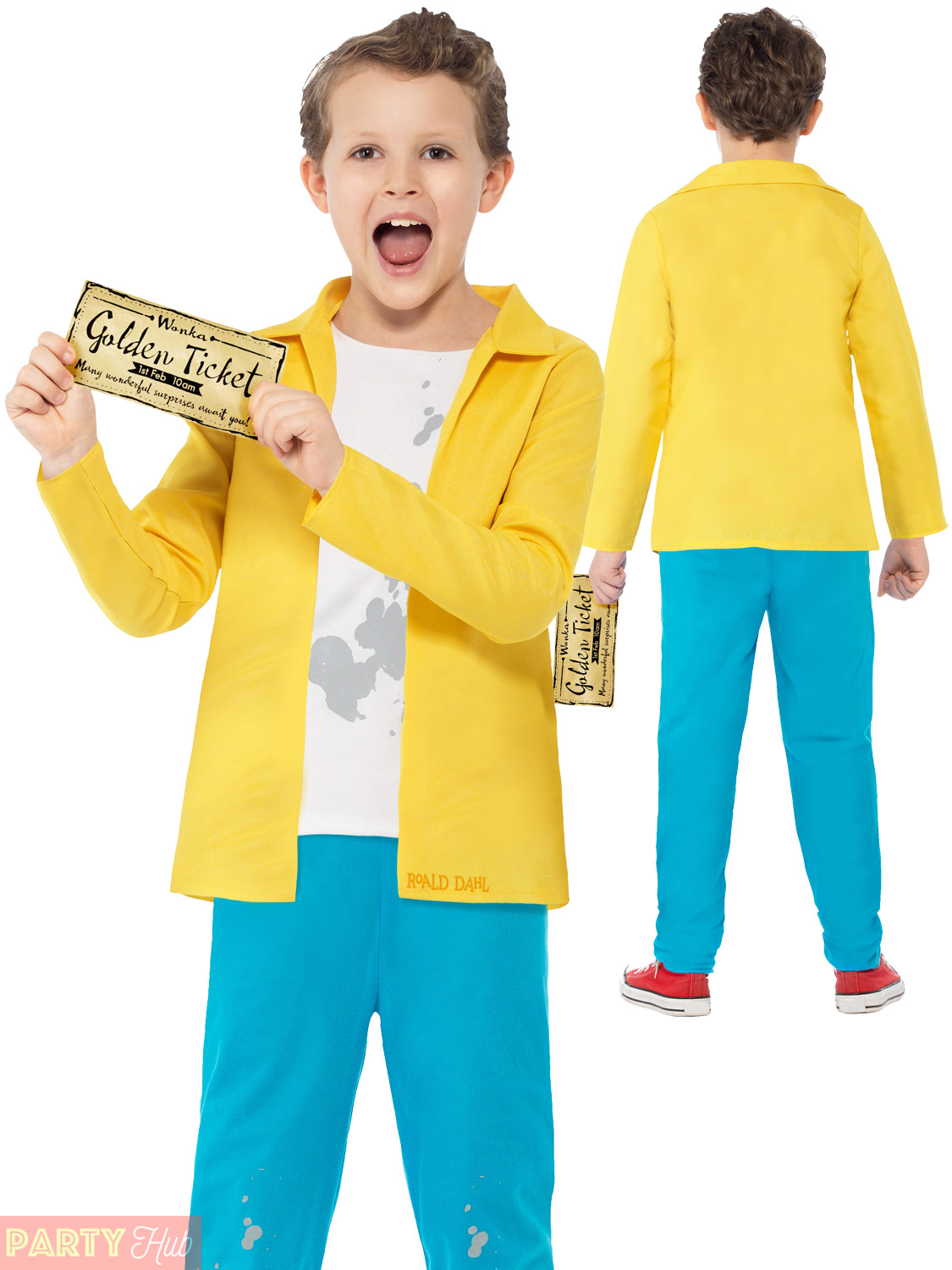 Details About Charlie Chocolate Factory Roald Dahl Costume Fancy Dress Book Day Boys Girls Kid