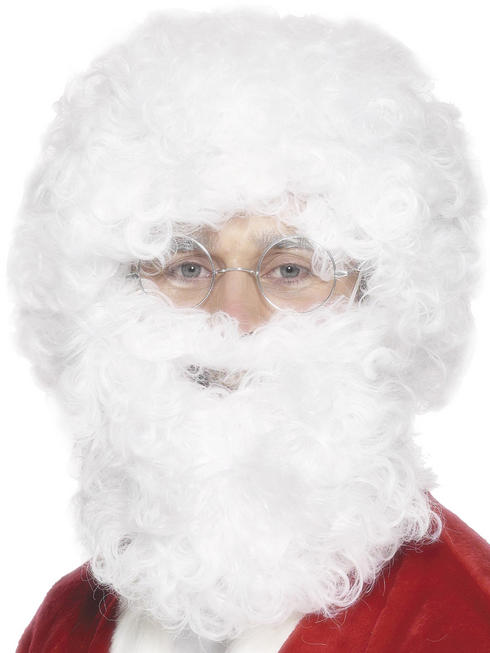 Adult's Santa Beard & Wig Set