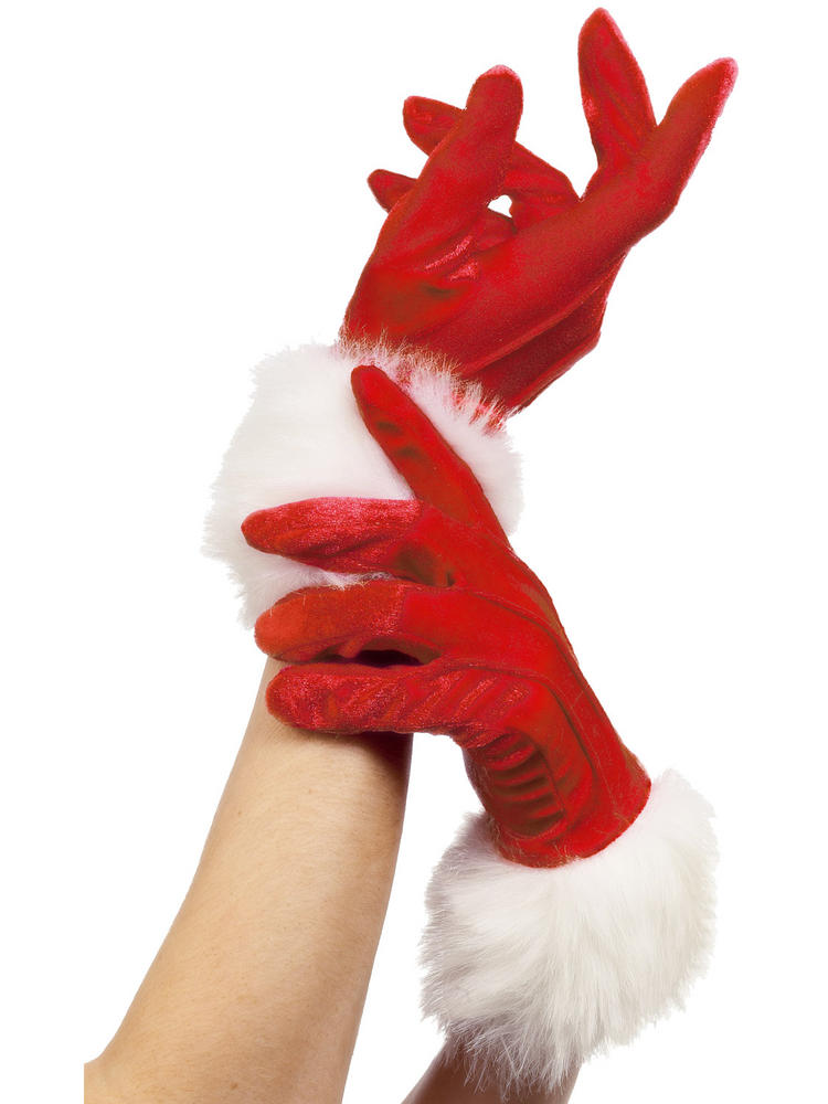 Ladies Santa Gloves