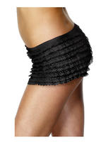 Ladies Black Ruffle Panties