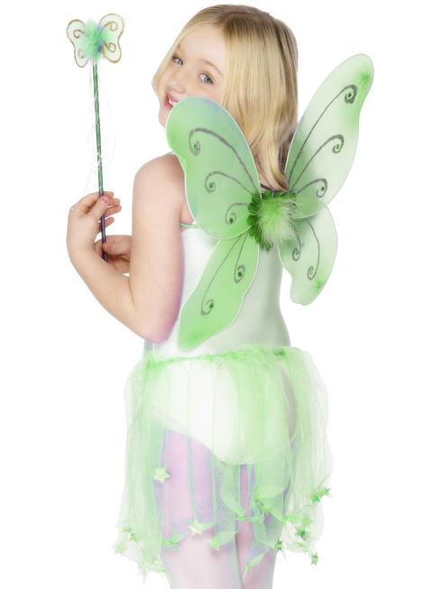 Girl's Green Butterfly Wings