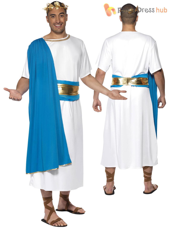 f9718d921 Mens Roman Senator Costume Adults Julius Caesar Toga Fancy Dress ...