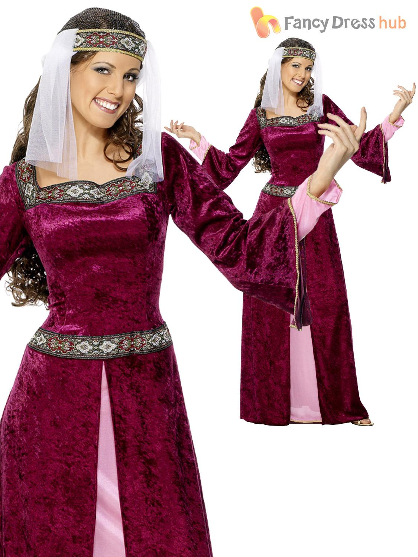 Ladies Maid Marion Costume Adults Robin Hood Fancy Dress Medieval  ~ Déguisement Robin Des Bois Femme Adulte