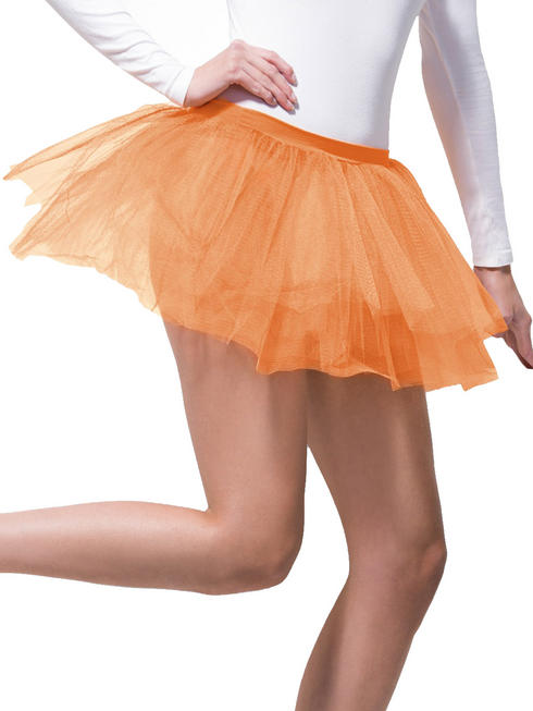 Ladies Orange Tutu Underskirt