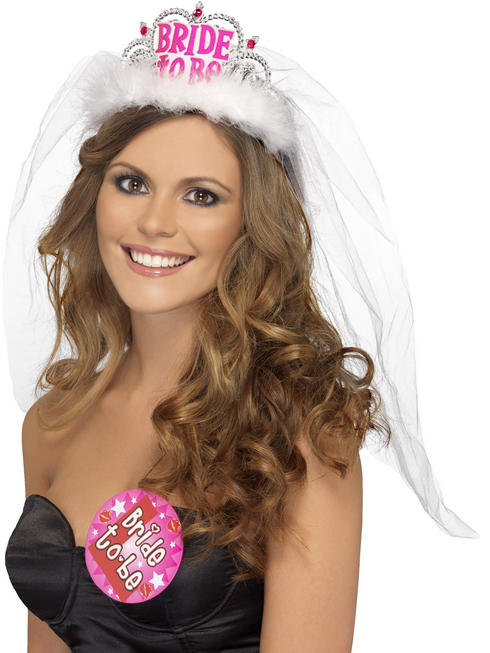 Ladies Bride To Be Tiara With Veil