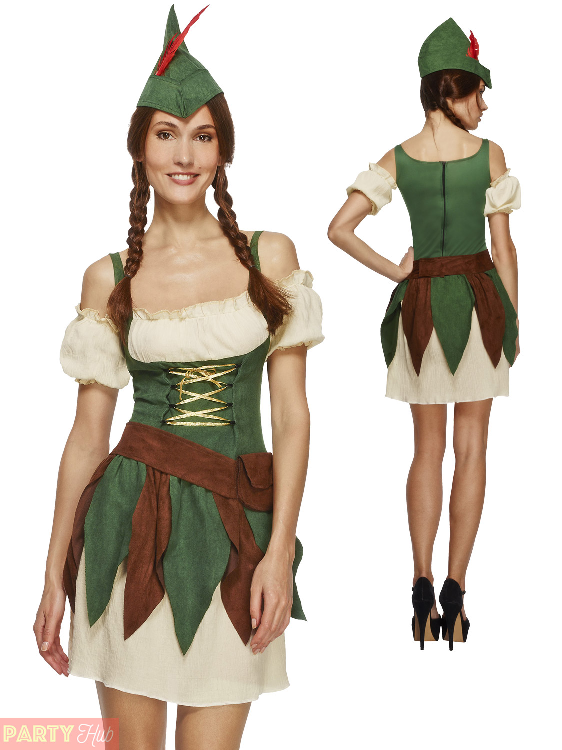 Ladies-Sexy-Robin-Hood-Costume-Adults-Fever-Medieval-  sc 1 st  eBay & Ladies Sexy Robin Hood Costume Adults Fever Medieval Warrior Fancy ...