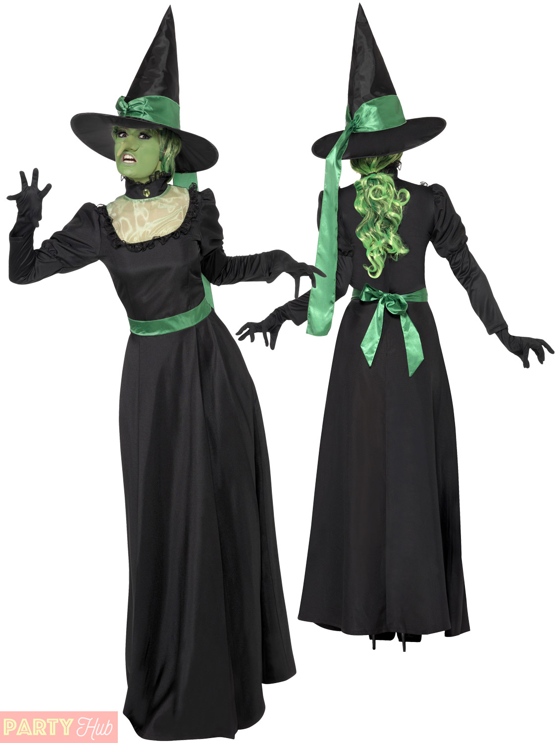 ladies wicked witch costume hat black traditional halloween