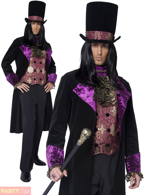 gothic count countess masquerade halloween costume mens ladies