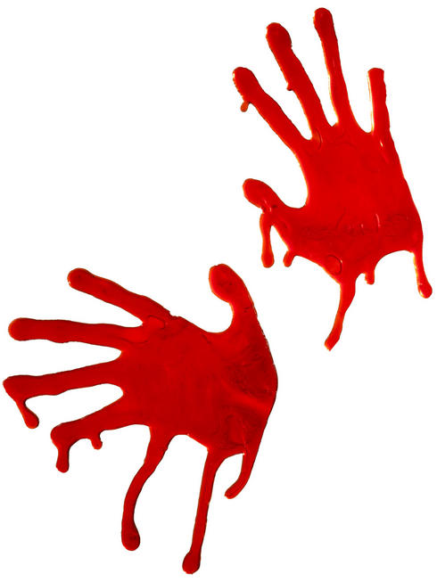 Bloodied Hands Window Stickers