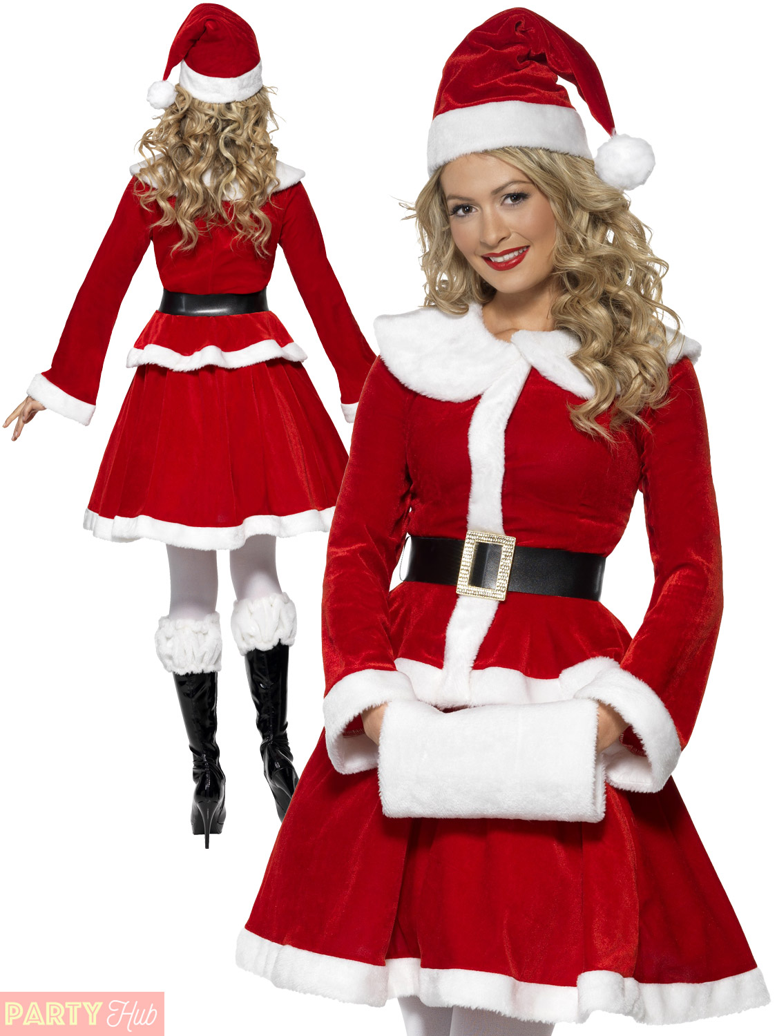 Christmas Fancy Dress.Details About Ladies Miss Santa Costume Muff Adults Christmas Fancy Dress Womens Xmas Outfit