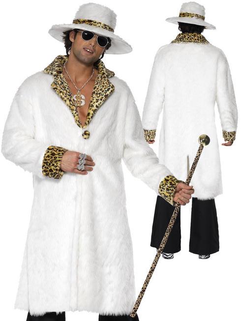 Men's Leopard Skin Pimp Costume