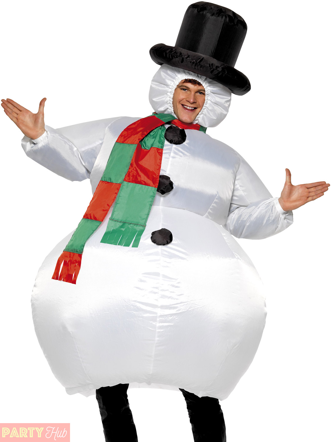 Adult-Inflatable-Snowman-Costume-Men-Ladies-Christmas-Fancy-