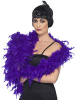 Dark Purple Deluxe Feather Boa