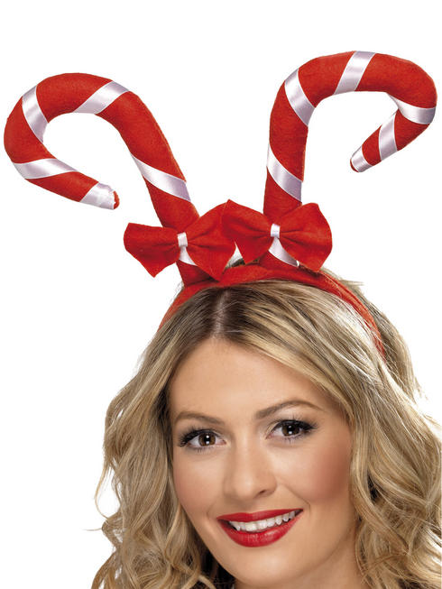 Adult's Candy Cane Xmas Headband