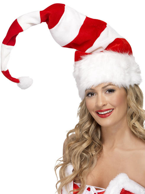 Adult's Santa Striped Hat