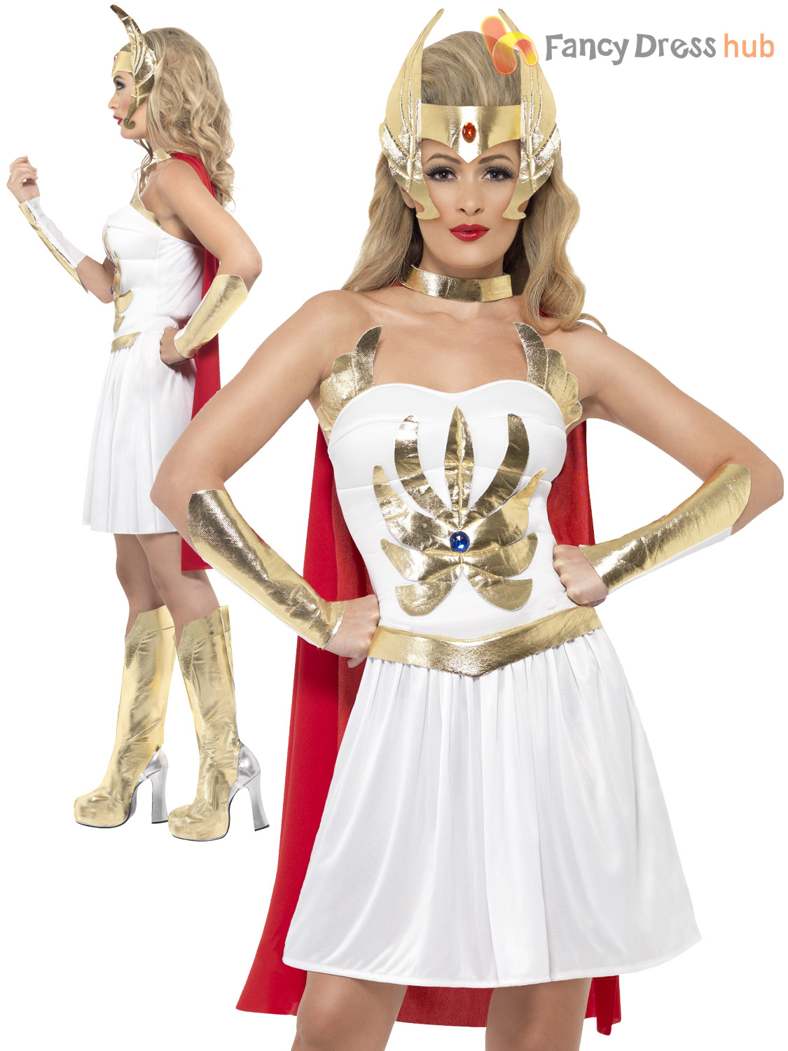 Ladies-Sexy-She-Ra-Costume-Adults-Superhero-Outfit-  sc 1 st  eBay & Ladies Sexy She-Ra Costume Adults Superhero Outfit Princess of Power ...