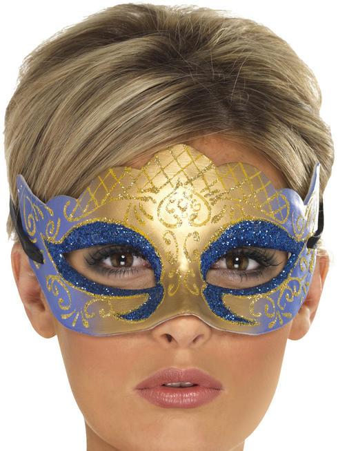 Adult's Farfalla Glitter Venetian Mask