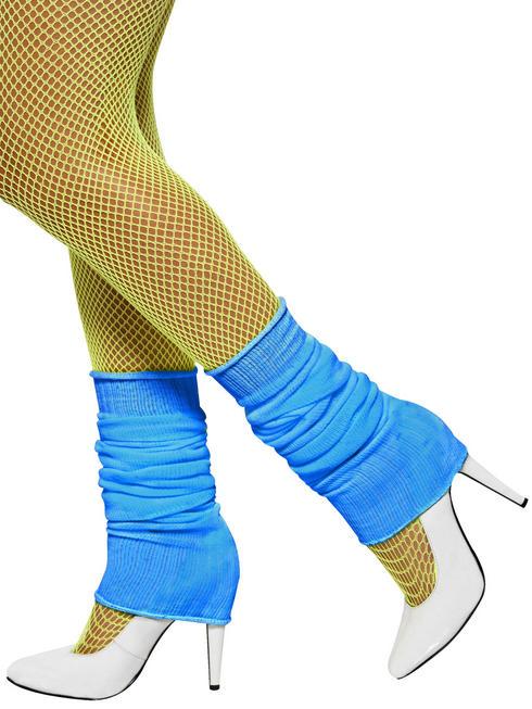 Neon Blue Legwarmers