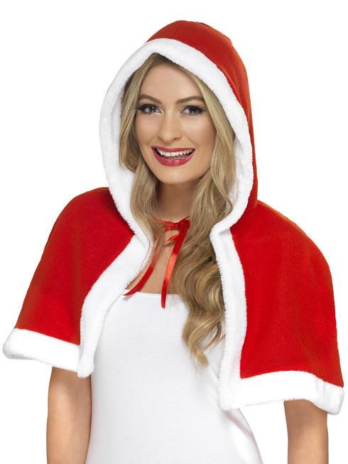 Adult's Santa Mrs Claus Mini Cape