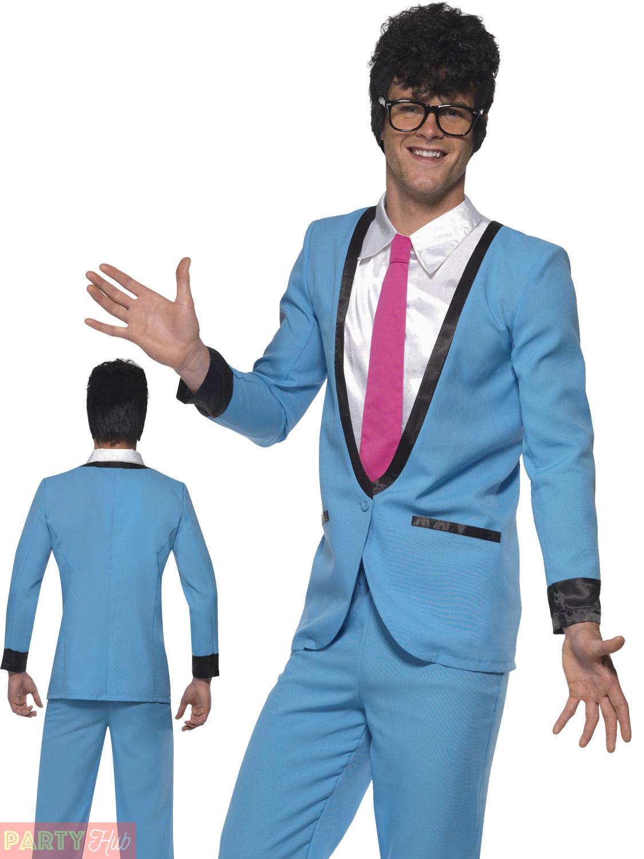 Mens Teddy Boy Costume Adults 50s Rocker Fancy Dress 1950s Buddy ...