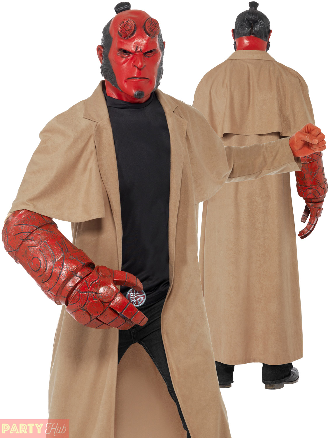 mens hellboy costume adult halloween film movie superhero