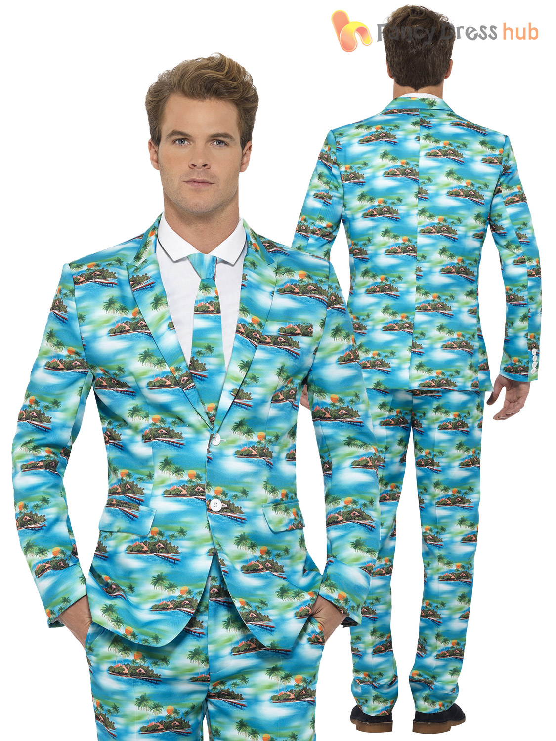 Mens Stand Out Suit Stag Do Fancy Dress Party Outfit Funny Comedy ...
