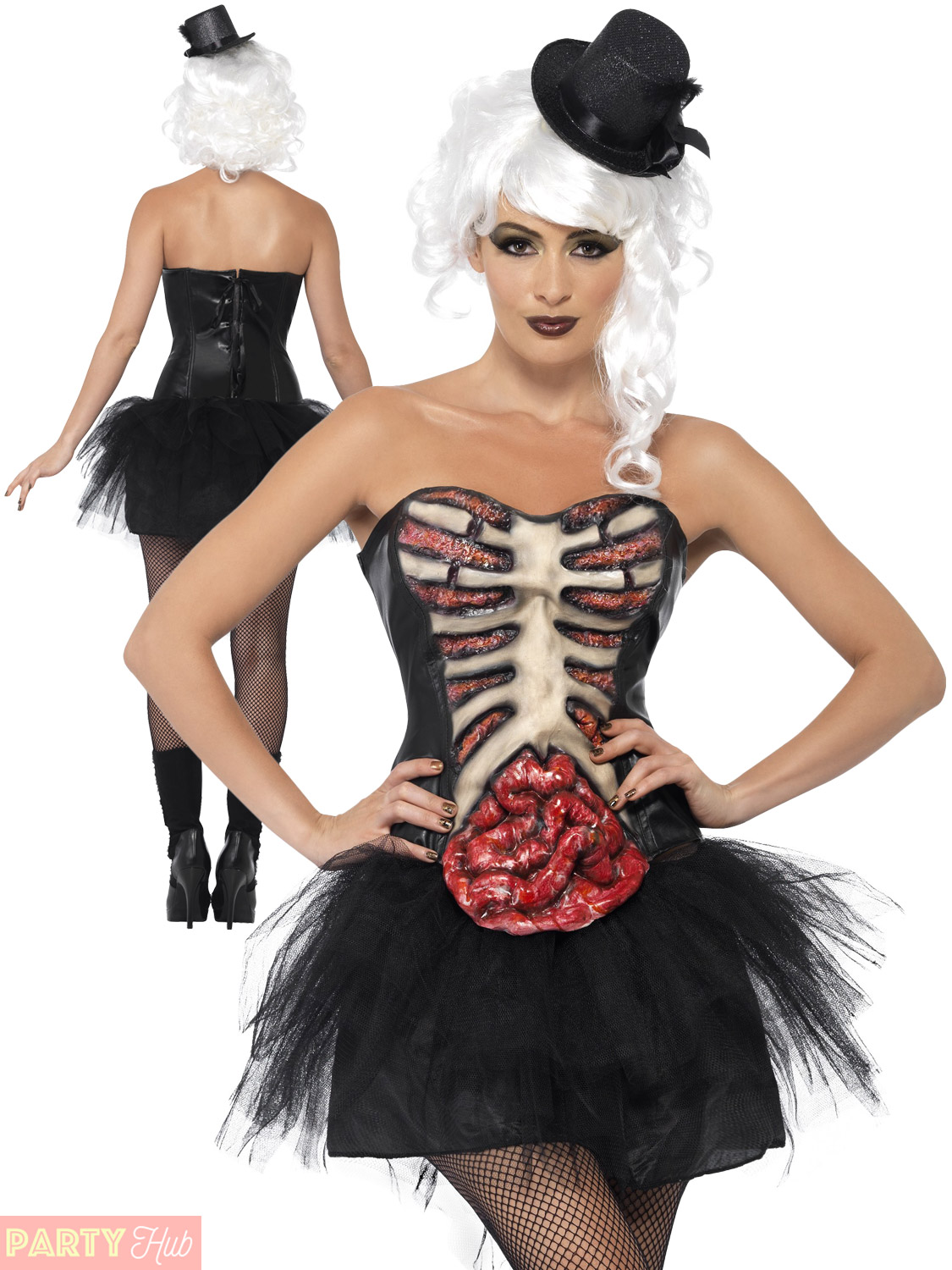 ladies grotesque burlesque costume womens pin up corset halloween