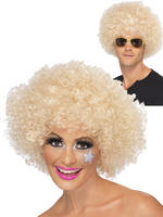 Adult's Blonde 70s Funky Afro Wig