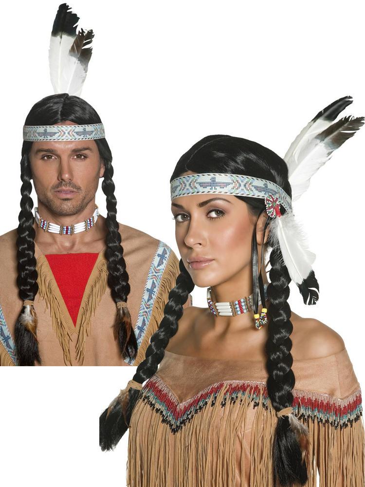 Ladies Native Indian Wig
