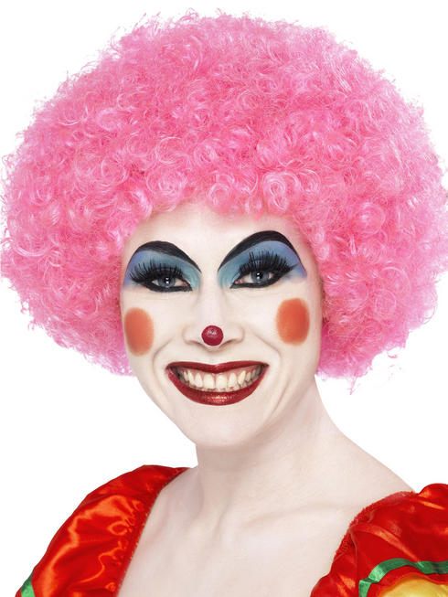 Pink Crazy Clown Wig