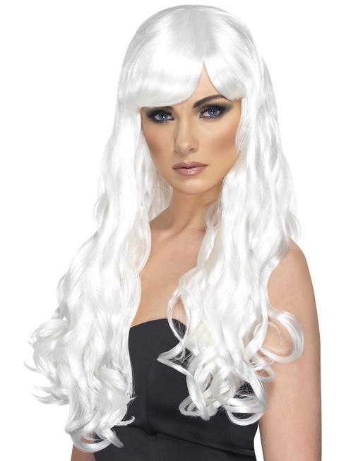 Ladies White Desire Wig