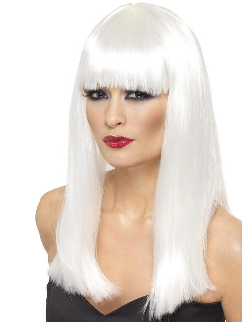 Ladies White Glamourama Wig