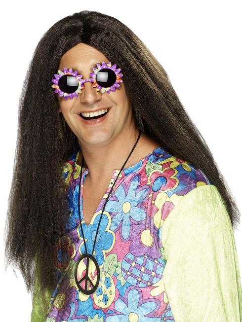 Long Brown Hippy Wig