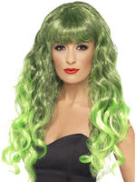 Ladies Green Siren Wig