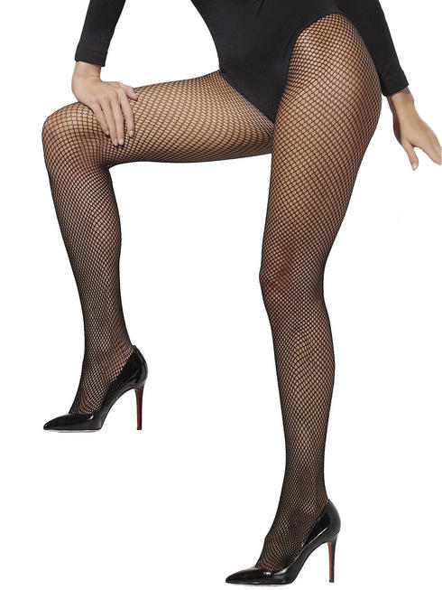Black X-Large Fishnet Tights