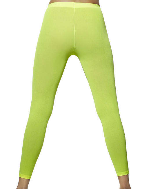 Ladies Neon Green Footless Tights