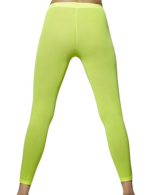 Ladies Neon Green Footless Tights