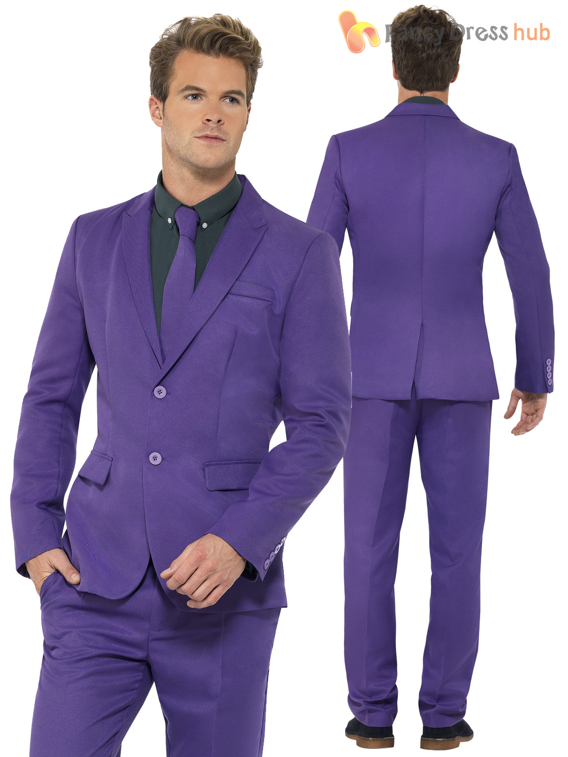 3 piece purple suit