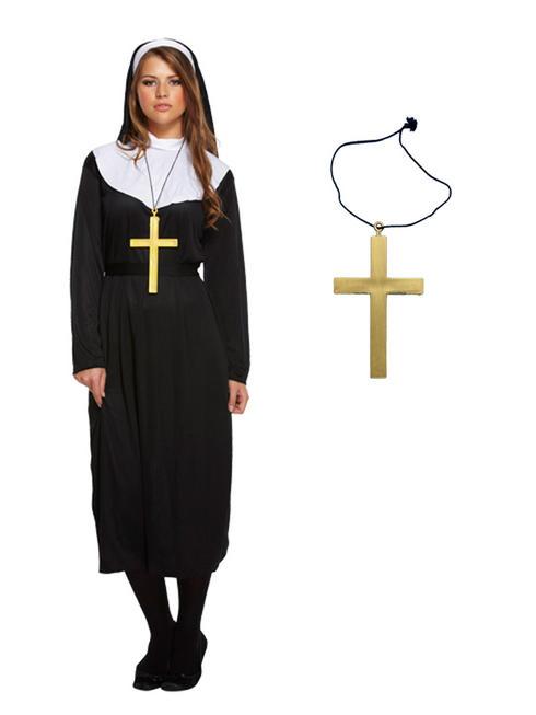 Ladies Deluxe Monk Habit & Cross