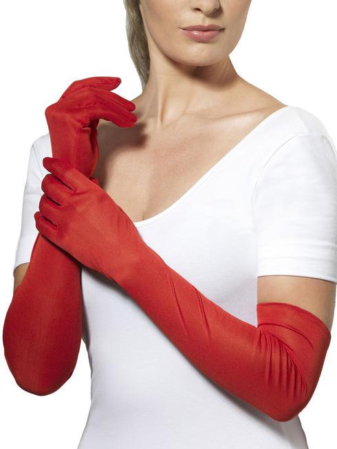 Ladies Long Red Gloves