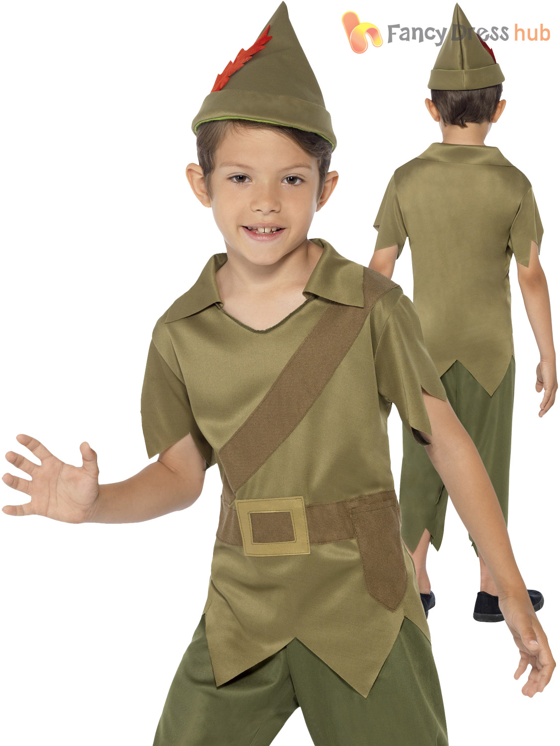 Boys-Robin-Hood-Costume-FREE-POST-Fancy-Dress-  sc 1 st  eBay & Details about Boys Robin Hood Costume *FREE POST* Fancy Dress Kids Book Week Day Outfit