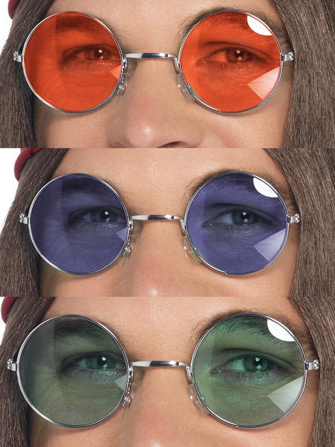 Adults Seventies Hippy Specs (Assorted)