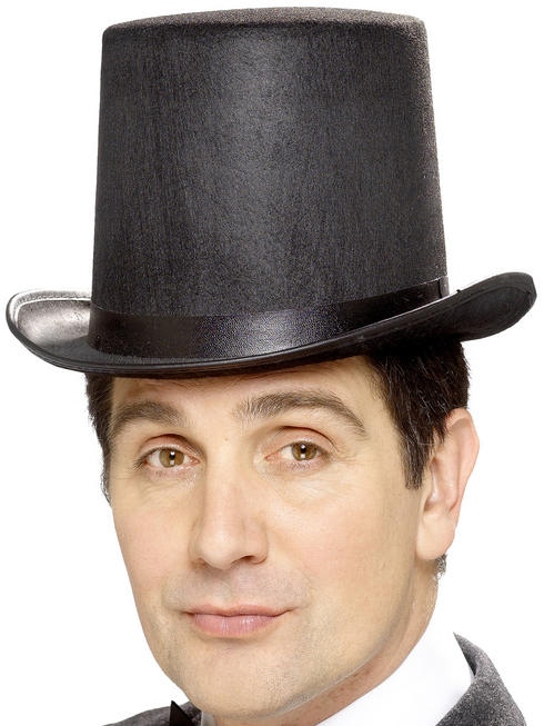 Black Stovepipe Topper Hat
