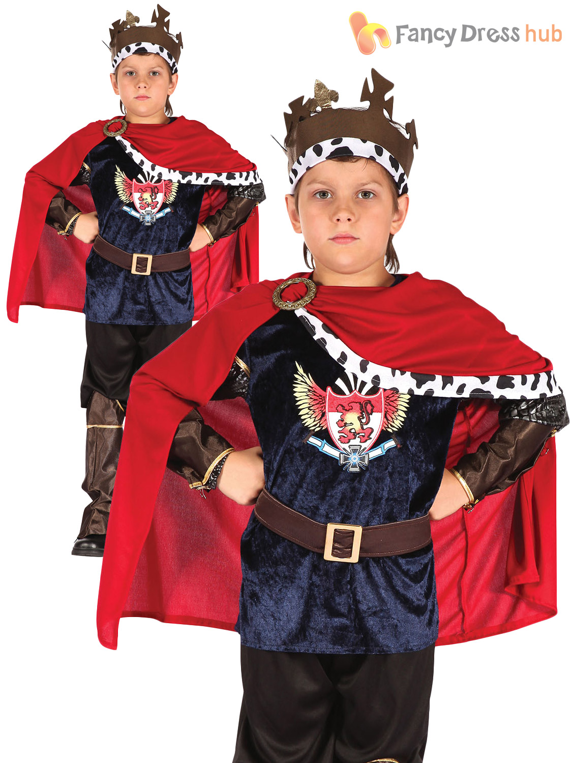 Age-4-11-Boys-Deluxe-Medieval-King-Arthur-  sc 1 st  eBay : kids prince costumes  - Germanpascual.Com